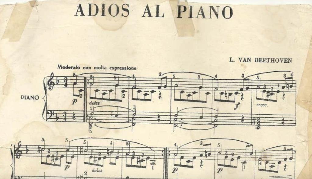 Addio al Piano