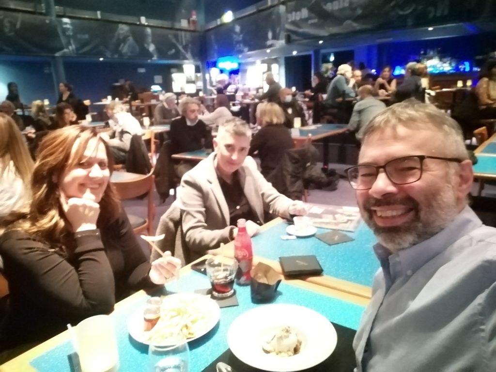 Con Anna Fiorini e Fabio Ricci