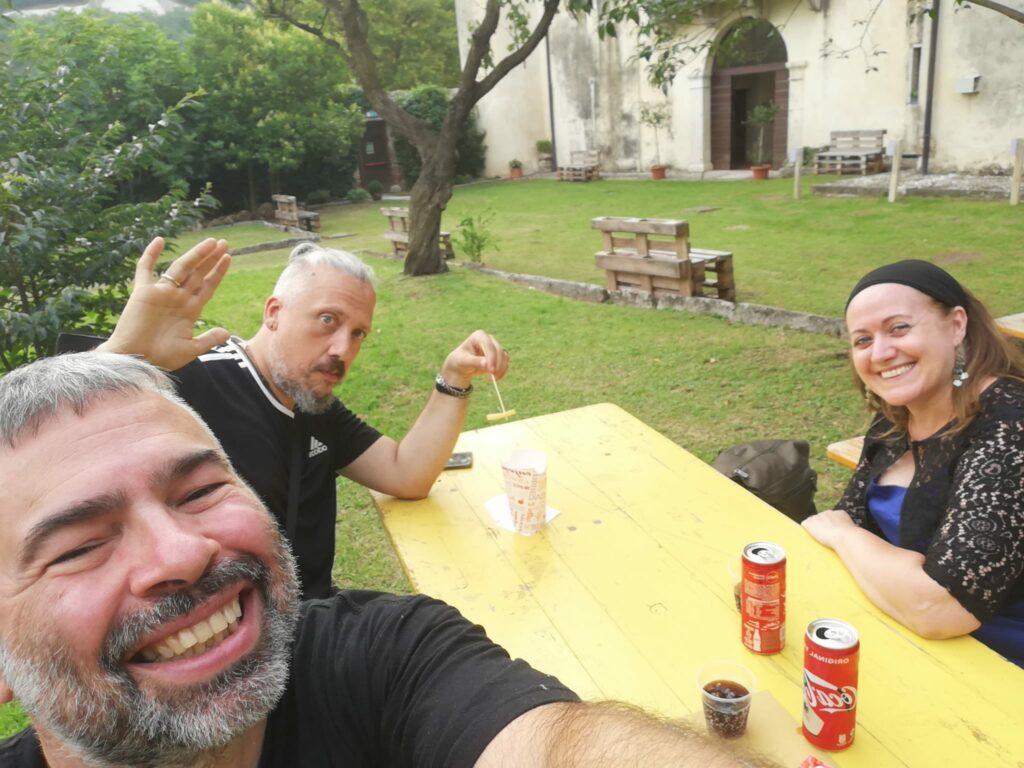 Fabio Ricci, Davide Motta e Melody Bach alla Villa del Bene